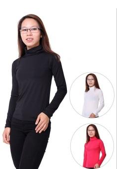 Bộ 3 Áo Giữ Nhiệt Cổ Lọ cao 12 cm Dài Tay Nữ SoYoung 3WM TOP 015 B W R