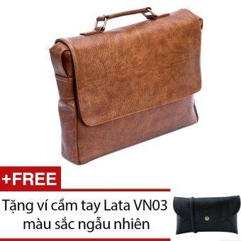 Cặp nam Lata CA12 (Da bò đậm) + Tặng 1 ví cầm tay Lata VN03