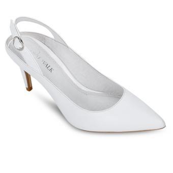 Giày cao gót Royal Walk trắng quai