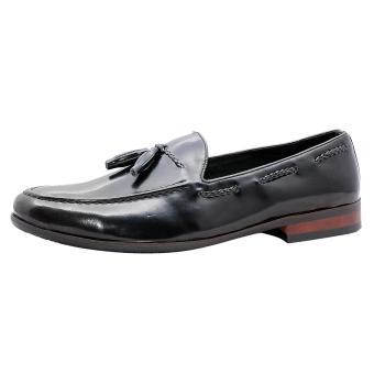 Giày nam da bò thật cao cấp Đen ESM17