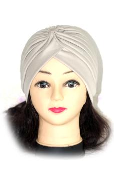 Polyester Turban Sun Cap Hat Khaki (Intl)