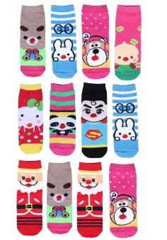 Bộ 12 đôi tất vớ trẻ em từ 5-8 tuổi bé gái SoYoung 12SOCKS 004 5T8 GIRL