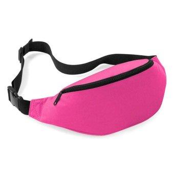 Unisex Bag Travel Handy Hiking Sport Fanny Pack Waist Belt Zip Pouch Pink - intl