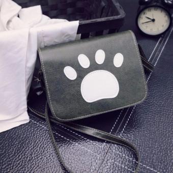 Túi hình bàn chân Cún ngộ nghĩnh (xanh rêu)