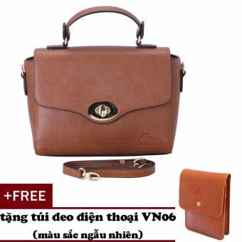 Túi đeo chéo nữ đa năng LATA HN36 (Bò đậm)+ Tặng ví Vn06