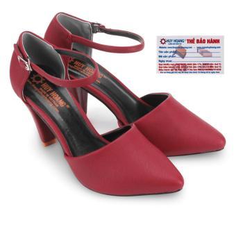 HL7091 - Giày nữ Huy Hoàng cao cấp cột dây đế 9cm màu đỏ