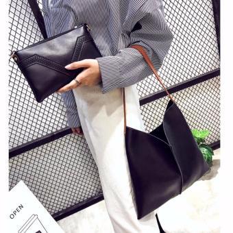 Bộ đôi túi và ví câm tay cao cấp VEI (DEN)