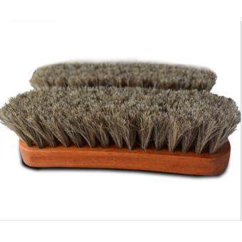 2 Bàn chải lông bờm ngựa Horse Hair vệ sinh giày,đồ da cao cấp 17cmx5cm