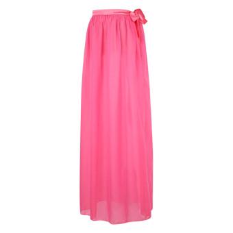 Fashion Women Sexy Chiffon Wrap Sarong Beach Cover Up Scarf (Pink) - intl