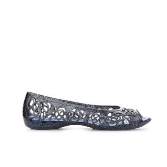 Giày búp bê Crocs Isabella Glitter Flat GS Navy/Cerulean Blue 202603-4EU (Xanh Navy)