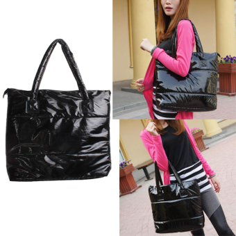 Fashion Women Space Pad Cotton Feather Down Single Shoulder Tote (Intl)