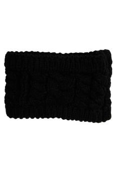 LALANG Turban Knitted Headband (Black)