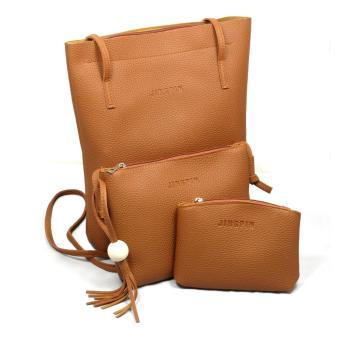 Set 3 túi xách thời trang (Nâu)