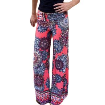 Fancyqube Casual High Waist Flare Wide Leg Long Pants 6063 - Intl