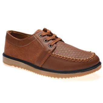 Giày Lười Nam Cột Dây Hnp Gn035 (Màu Da Bò)