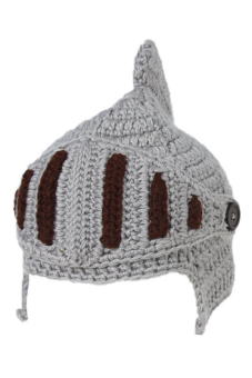 LALANG Fashion Winter Cap Warm Crochet Knit Roman Knight Hat Grey