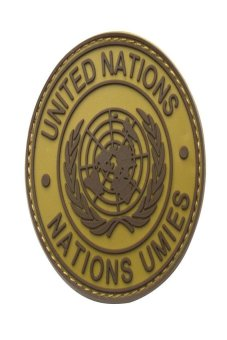 HKS International U.N UN United Nations Genuine Shoulder Patch Badge Mud Color - intl