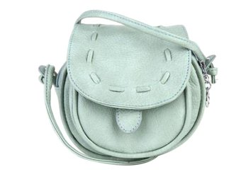 niceEshop Lovely Cute Girl PU Leather Adjustable Soft Front Pocket Crossbody Bag (Mint Green)