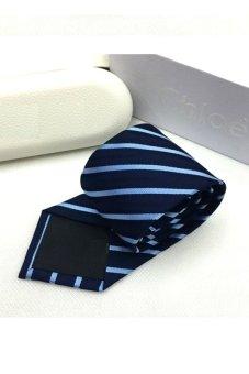 Cà vạt lụa thời trang bản vừa Victoria90 VT6009-3 (Xanh)