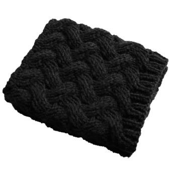 1 Pair of Women Short Thicken Crochet Knit Leg Warmer Winter Leg Warmers Socks Boot Cuffs Socks Toppers Black - intl