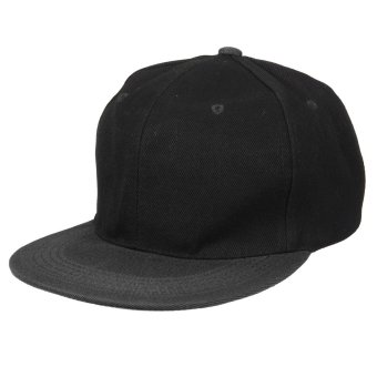 Fashion Men Women Baseball Snapback Hat Hip-Hop Hunting Cap Sport Hat Adjustable Black (Intl) NEW - intl