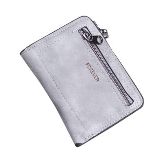 Women Simple Solid Color Zipper Coin Purse Short Wallet Card Holders Handbag - intl