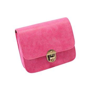 Fashion Women Leather Handbag Crossbody Shoulder Bag Pink - intl