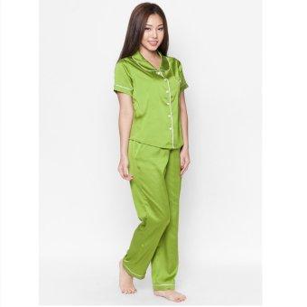 Pyjama lụa dài Cloud TD4 (Xanh)