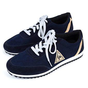 Men Canvas Flats Breathable Shoes (Deep Blue) - intl