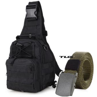 Túi đeo ngực thời trang và thắt lưng dù chiến thuật phong cách Quân đội Mỹ