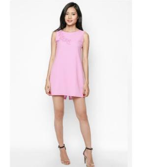 Đầm Suông Đính Ren 3D