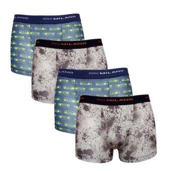 Bộ 4 quần lót Nam Boxer cao cấp siêu nhẹ Hàn Quốc - Lybishop