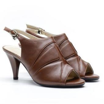 Sandal cao gót Evashoes Eva68626 Nâu