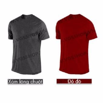 Bộ 2 áo thun LAKA A1115 (Xám + Đỏ Đô)
