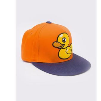 Nón nam/nữ Snapback nhập khẩu Hàn Quốc phong cách Kpop hiệu Millitage màu cam