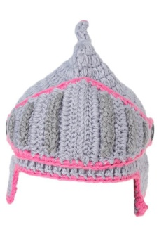 LALANG Hand-Knit Beanie Roman Knight Masks Cap (Light Grey)