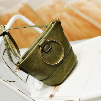 Fashion Women Mobile Handbag Buns Bag Bucket Bag Shoulder Messenger Bag GN - intl