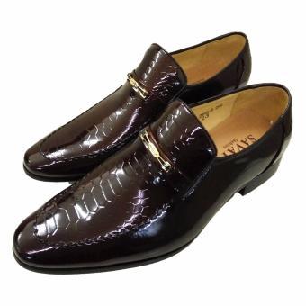Giày tây da bóng nâu 2016N