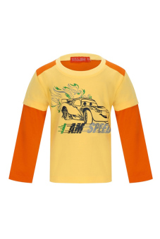 Áo thun bé trai tay dài V.T.A.Kids BT41113C-VC (Vàng phối cam)
