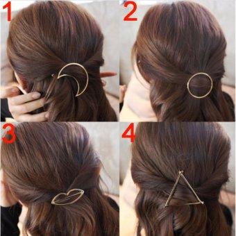 Kẹp tóc nữ thời trang số 3 KAH42 (Mầu vàng)