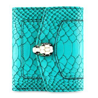 PU Leather Snap Fastener Short Wallet for Women - intl