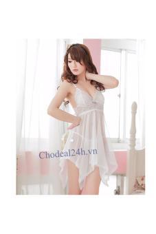 Mua Váy ngủ Sexy Voan mỏng đệm Ren.vn (trắng) giá tốt nhất