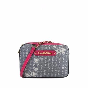 Túi đeo chéo CR Signature Carlo Rino 0303238-001-44 (màu hồng)