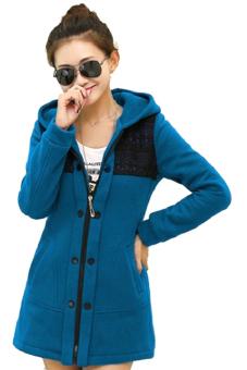Áo khoác nữ form dài phối ren (Cô ban)