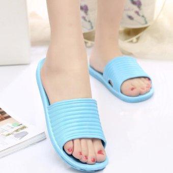 Moonar Women Flat Home Bath Slippers Summer Sandals Non-slip Shoes (blue) - intl