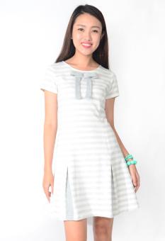 Đầm Cổ Nơ Chân Váy Xòe AlohaFashion