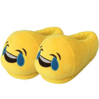 Women Cartoon Face Expression Style Winter Indoor Plush Slipper Soft Warm Plush Slippers Average Size for CN 36-40 / EU 36-40 / US 5-9 Style D - intl