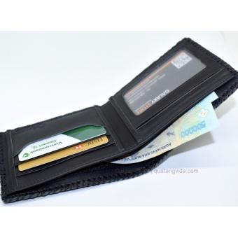 Ví Bóp Nam Da Bò Thật Cao Cấp Galaxy Store GVN01 (Đen) + Tặng kèm hộp ví
