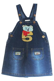 Yếm jean bé trai 1-9 tuổi Tri Lan YBT001 (Xanh)