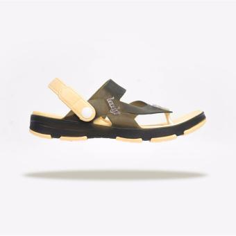 Giày Sandal Nam Leedo Strap 106 (Kem Nâu)